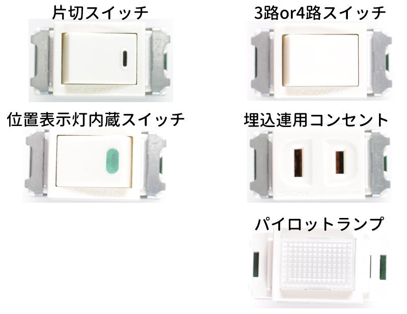 第二種電気工事士の技能試験で使用する埋込器具を紹介する画像