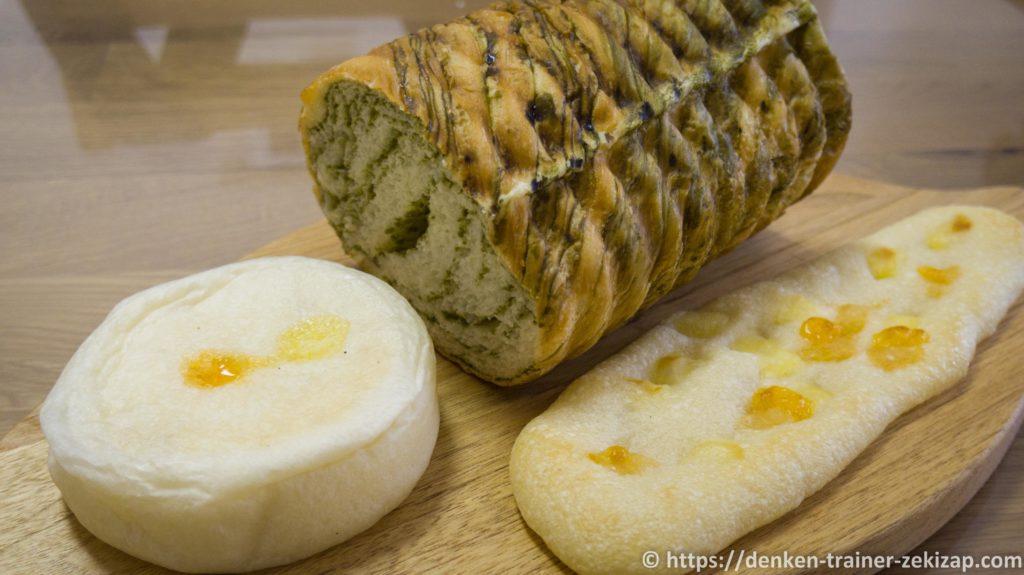 パン工房フロイデのおやきパンとパリッコとラウンドパン