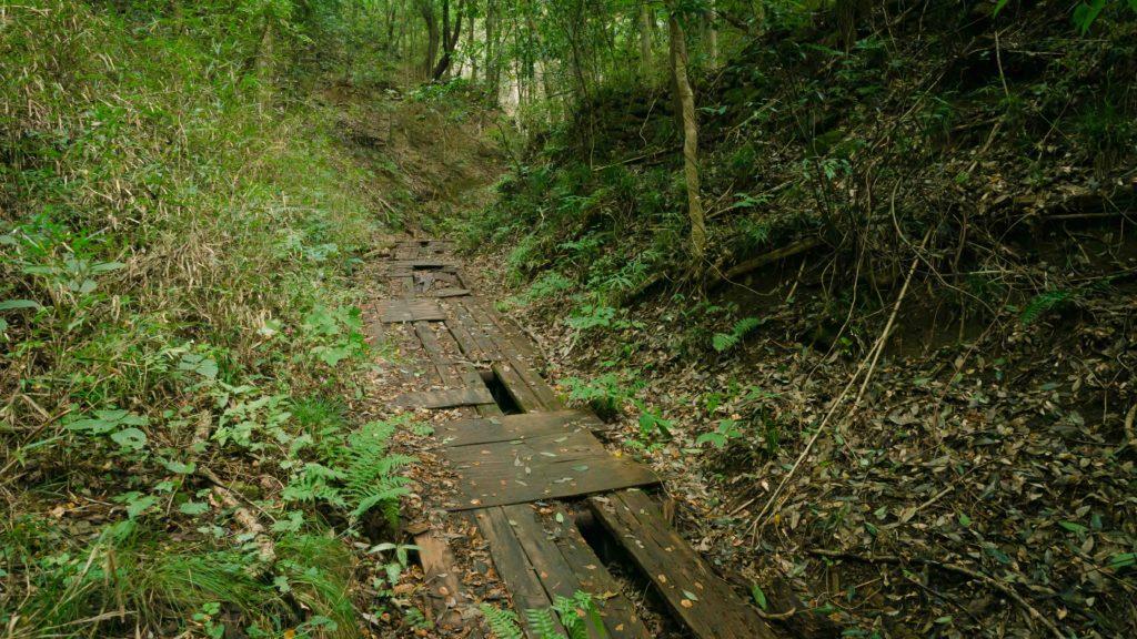 藪塚石切り場跡地へと導く道