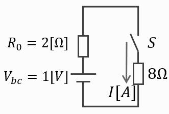 電験三種2020理論問7の回路をテブナンの定理を用いて変換した図