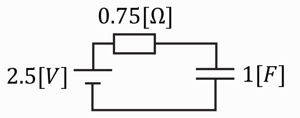 電験三種2020理論問10の回路図にテブナンの定理を適用した等価回路