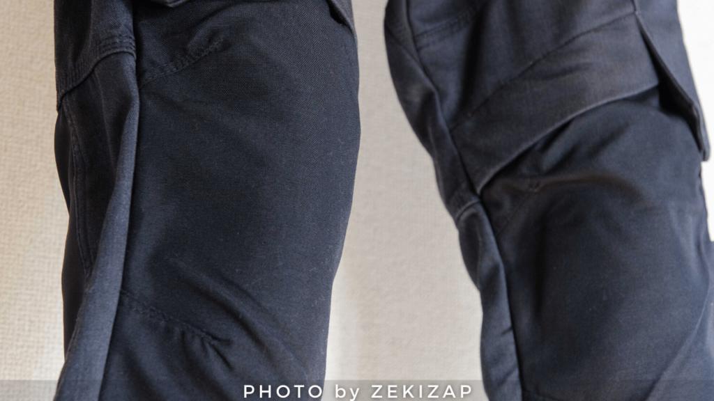 ワークマンのコーデュラユーロウォームパンツの膝