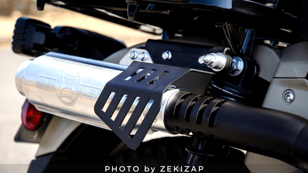 CT125ハンターカブ用モリワキのモンスターフルエキゾーストマフラーのヒートガード